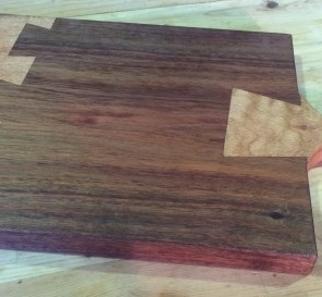 Silky Oak and Redgum Dovetailed Chopping Board