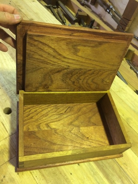 Cedar and Spotted Gum box inside