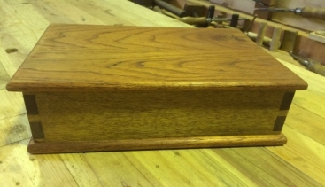 Cedar and Spotted Gum box side
