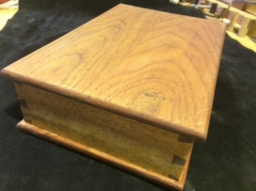 Cedar and Spotted Gum Dovetail Box