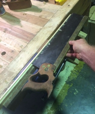 Cutting off the inlay