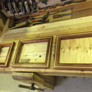 Hand moulded inlaid Red Cedar Frames