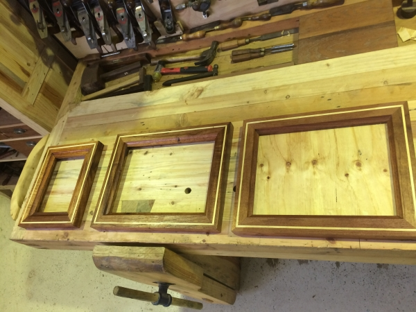 Hand moulded inlaid Red Cedar Frames 600 100