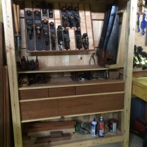 Recycled Pallet Wood Tool Cabinet