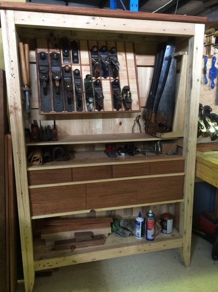 Recycled Pallet Wood Tool Cabinet 600 100