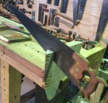 Rip cutting Silky Oak to size