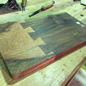 Silky Oak and Red Gum Serving Tray